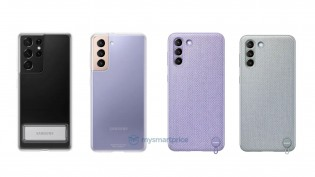 Galaxy S21 accessories: Kvadrat and Clear Standing covers