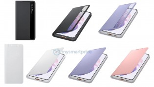 Galaxy S21 accessories: S-View Flip and LED Wallet covers