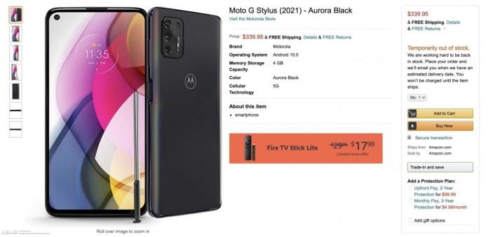 Motorola Moto G Stylus 2021 Leaked By Amazon Gsmarena Com News