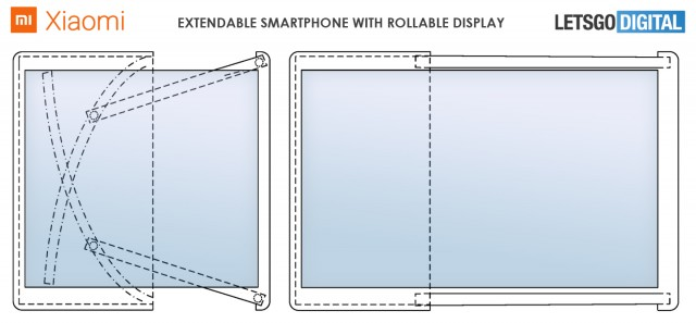 Renders based on Xiaomi patent show a stunning rollable smartphone