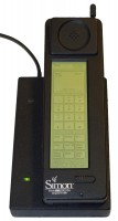 "First phones with a game: IBM Simon <a href=""https://en.wikipedia.org/wiki/IBM_Simon#/media/File:IBM_Simon_Personal_Communicator.png"" target=""_blank"" rel=""noopener noreferrer"">image credit</a>"