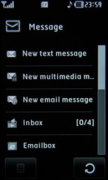 Messaging on a touchscreen