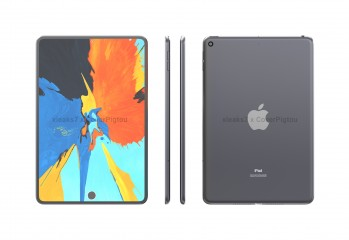 Renders of iPad mini 6 suggest two punch holes: for the selfie camera and for the FP reader