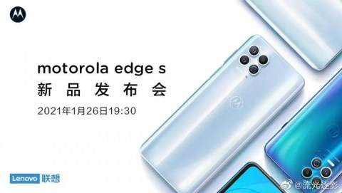 Motorola Edge S poster leaks, confirms back design once again