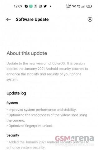 Oppo Reno5 Pro 5G software update