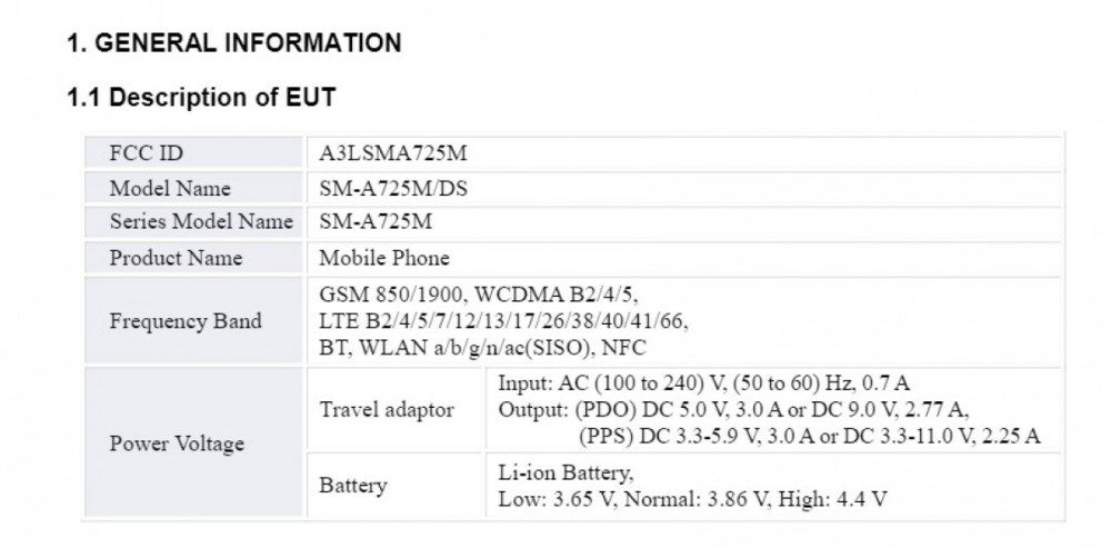 Samsung Galaxy A72 4G FCC certification reveals 25W fast charging