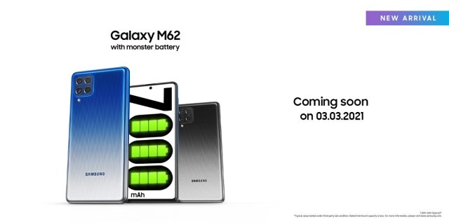Samsung Galaxy M62 is the F62 for the rest of the world, launching on March 3