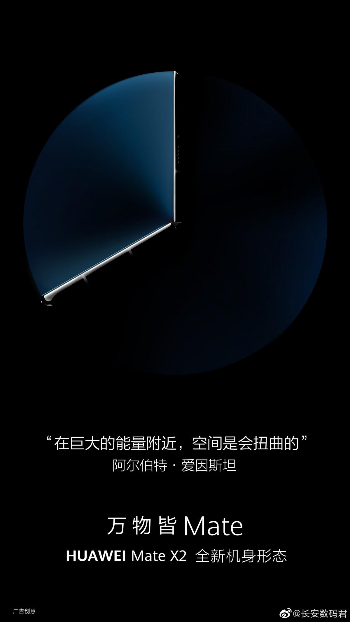 Gambar Huawei Mate X2 baru mengkonfirmasi lipatan ke dalam