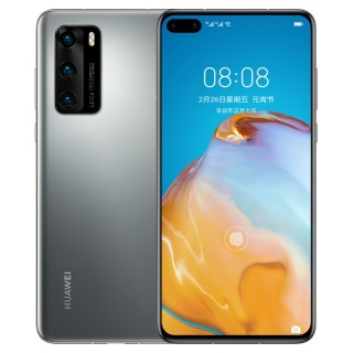 Huawei P40 in Dark Blue and Frost Silver
