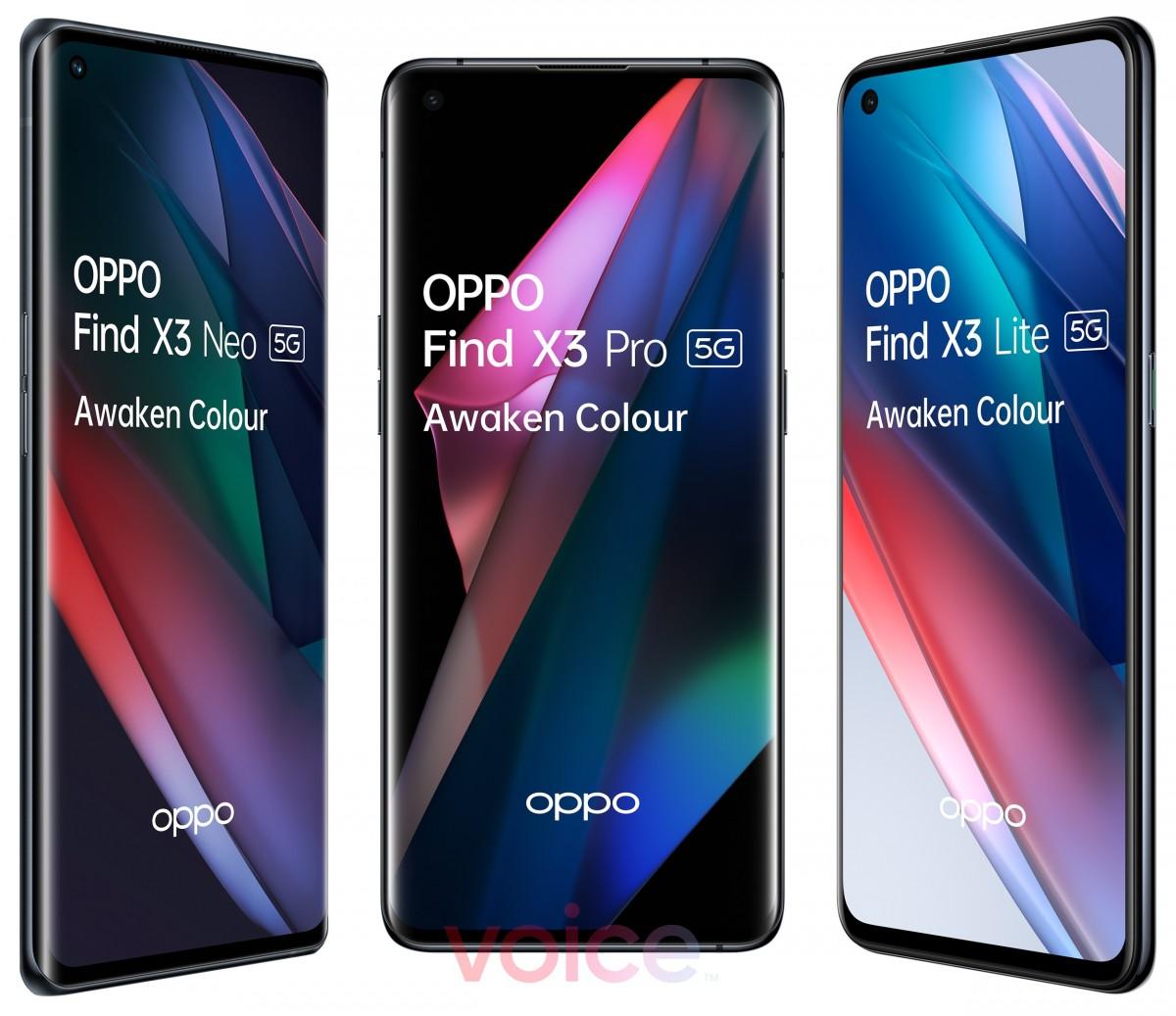 Oppo Find X3 Pro membintangi gambar yang tampak resmi