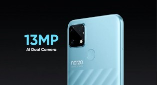 13 MP camera on the back (plus a fingerprint reader)