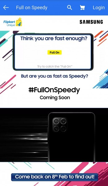 Samsung Galaxy F series smartphone with quad camera teased by Flipkart