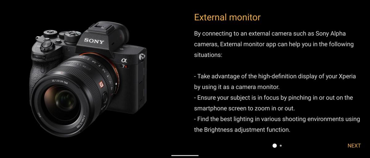 Sony Xperia 1 II menerima aplikasi monitor Eksternal dari Xperia Pro sebagai bagian dari pembaruan Android 11