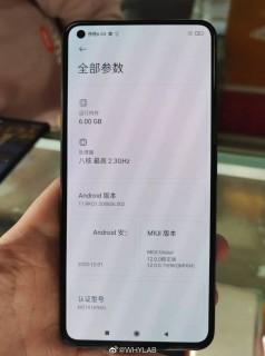 Alleged Xiaomi Mi 11 Lite live images