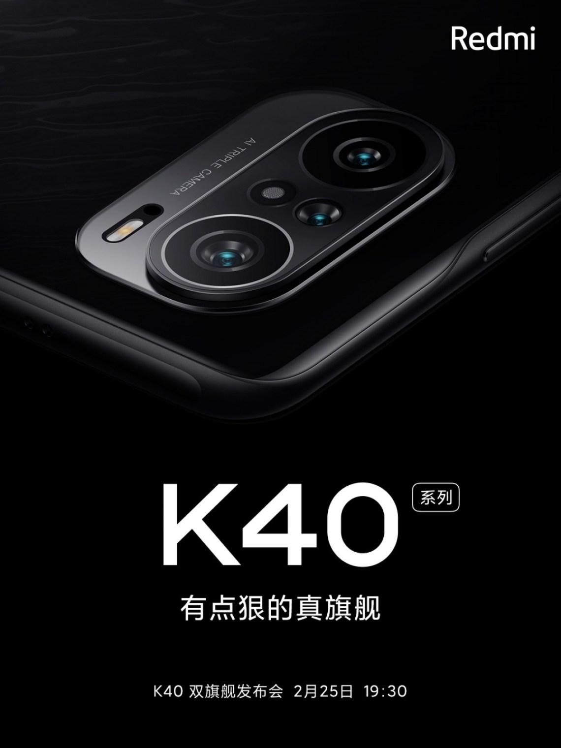 Redmi K40 akan memiliki tiga kamera, poster resmi mengkonfirmasi
