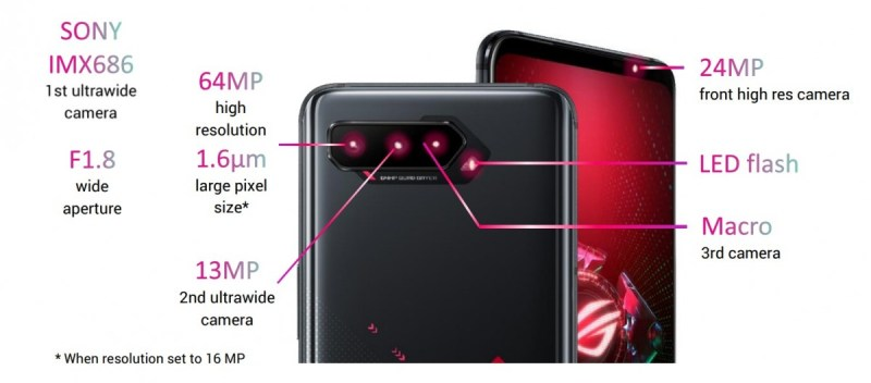 Asus unveils ROG Phone 5, Pro and Ultimate with 6.78'' 144 Hz AMOLED displays, S888 chipsets