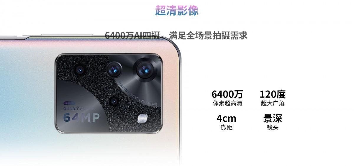 Vanilla S30 sebagian besar memiliki pengaturan kamera yang sama, 64 + 8 + 2 + 2 MP, meskipun kehilangan mode 4K 60fps