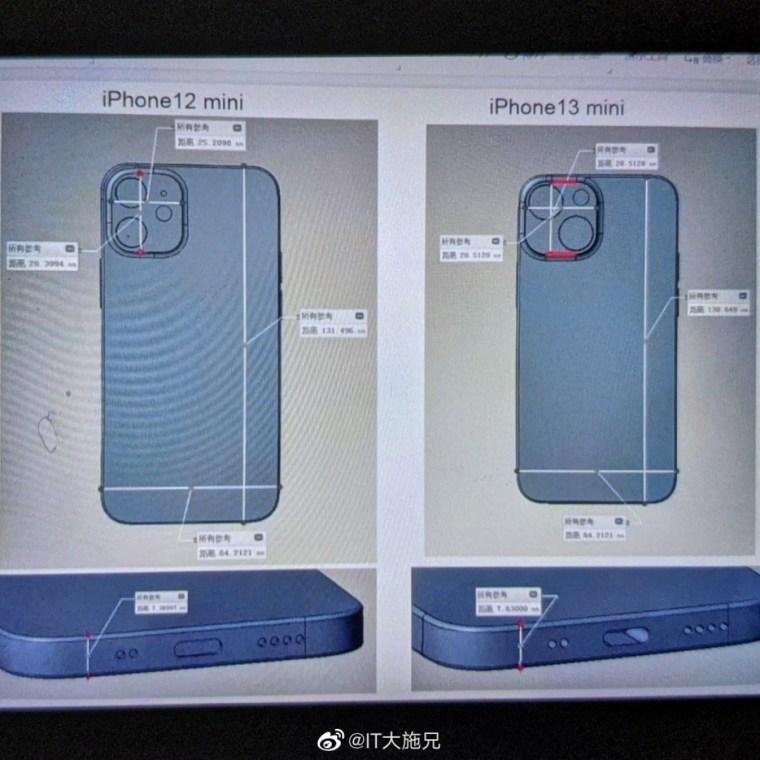 Apple iPhone 13 mini leak suggests new dual camera module