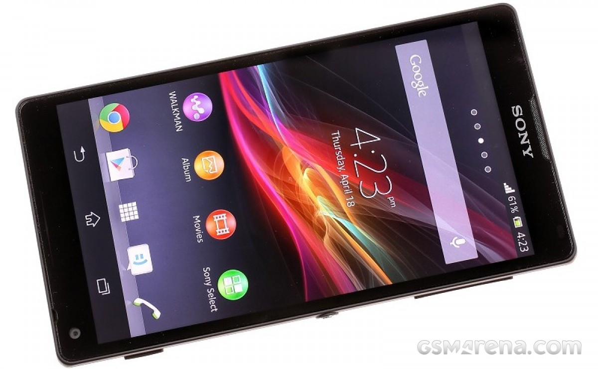 The Xperia ZL impressed with its slim bezels around its 5