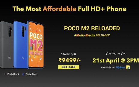 Poco M2 Reloaded launched in India as the most affordable phone with an FHD+ screen