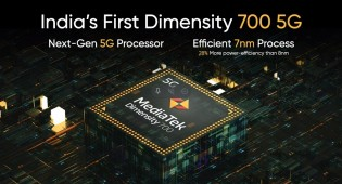 The Realme 8 5G is India's first phone powered by the Dimensity 700 chipset
