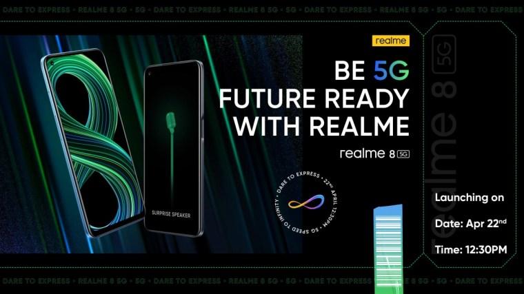 Realme 8 5G Indian launch set for April 22