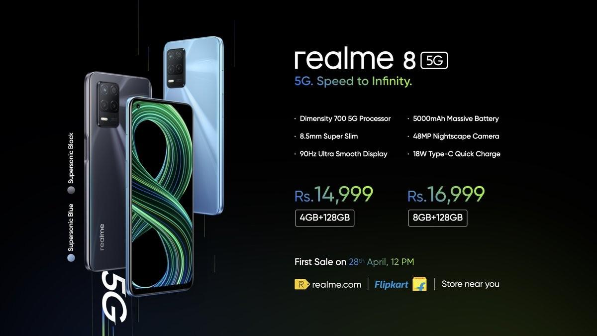 Realme 8 5G hadir di India