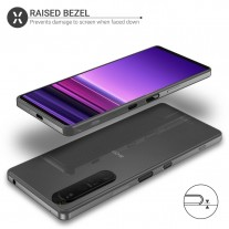 Sony Xperia 1 III wearing a transparent Olixar case