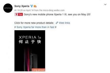 Sony Xperia 1 III membocorkan harga dan tanggal peluncurannya untuk pasar Cina