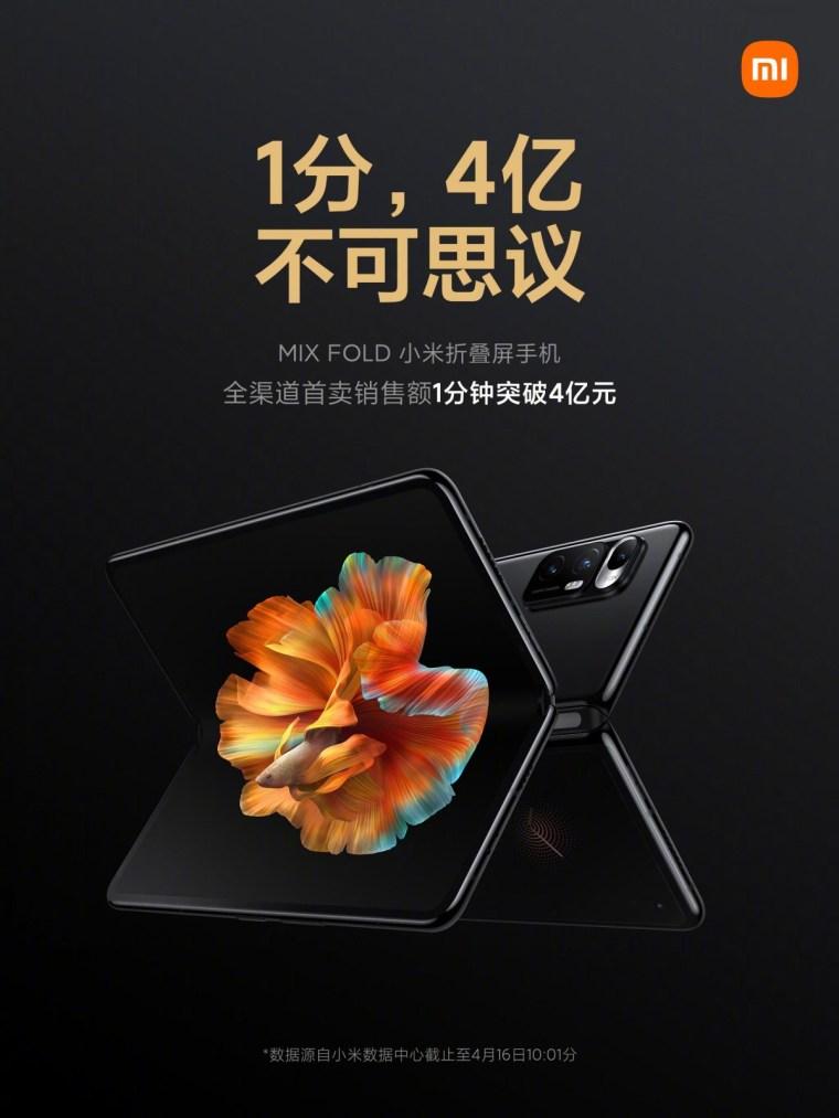 Xiaomi sells over 30,000 Mi Mix Fold units in a minute