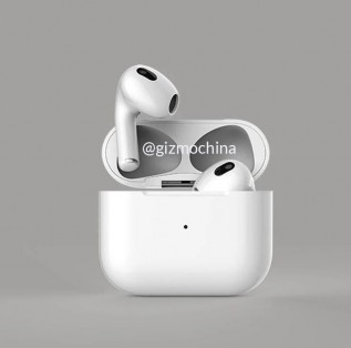 Leaked render of the AirPods 3