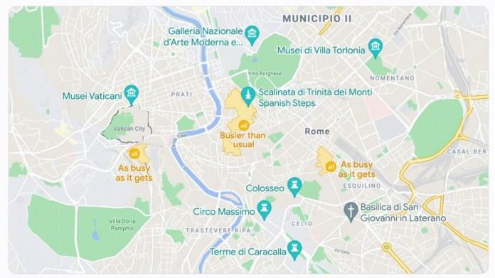 O Google Maps obtém informações de ocupação para áreas, mapas mais detalhados e personalizados