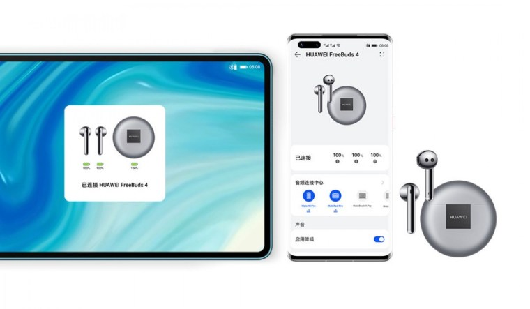 Huawei FreeBuds 4 announced with ANC, Kirin A1 chip and fast charging