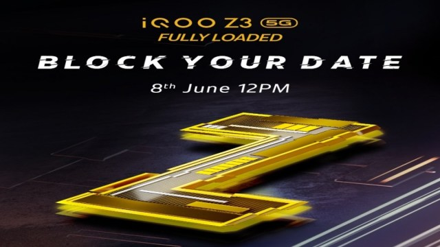 iQOO Z3 India launch set for June 8