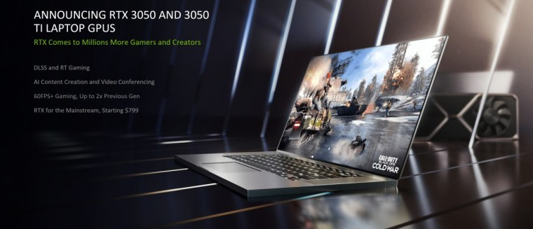 Nvidia's GeForce RTX 3050 and 3050 Ti laptop GPUs bring extra power to your gaming and content creation