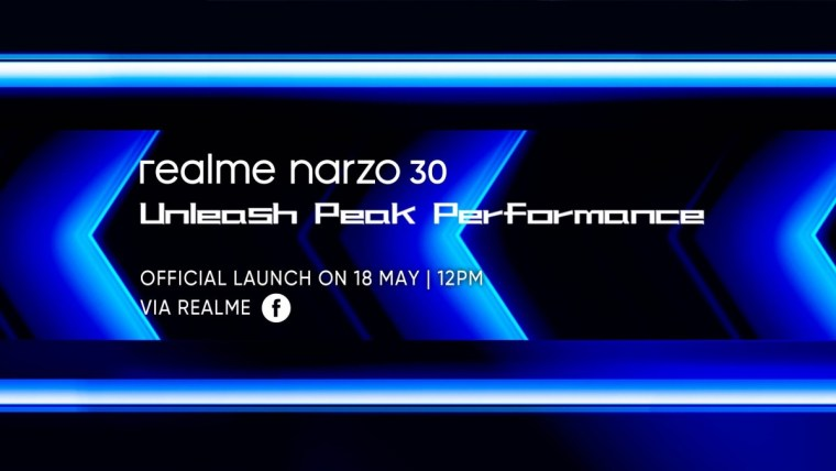 Realme Narzo 30 will be unveiled on May 18 with Helio G95 SoC and 5,000 mAh battery