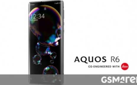 Alleged renders leak of the Sharp Aquos R6 with Leica-branded camera