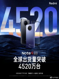 Xiaomi posters about the Note 9 sales