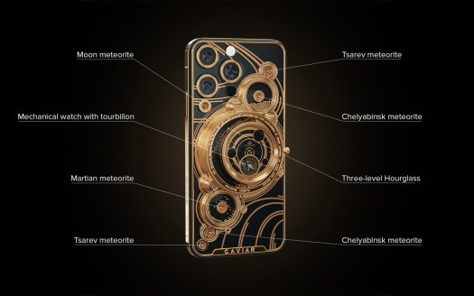 Caviar puts meteorites on the back of iPhone 13 Pros, gilds a Tesla Model S