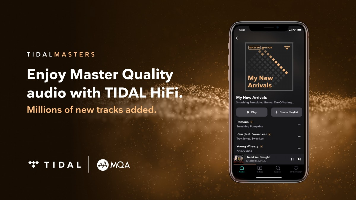 Tidal uses MQA, a lossy codec with a unique folding algorithm for packing in more data