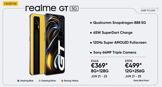 Realme GT arrives in Europe, early birds get a great deal