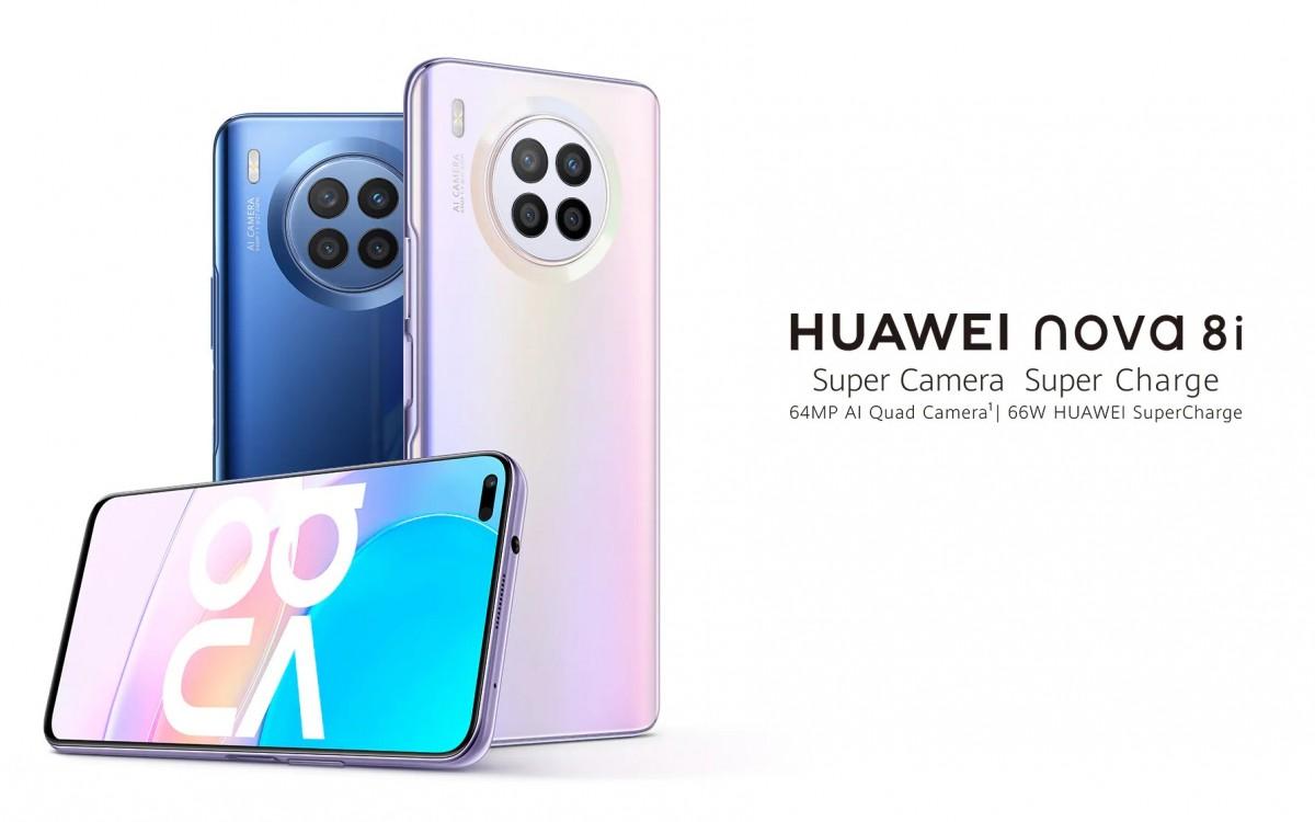 Huawei nova 8i diumumkan dengan Snapdragon 662, kamera quad 64MP, dan pengisian daya 66W