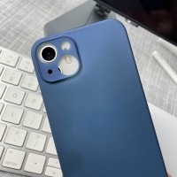 iPhone 13 cases put on iPhone 12 - note the misaligned cameras and buttons