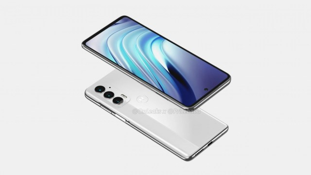 Motorola Edge 20 appears in renders with punch hole display and triple camera