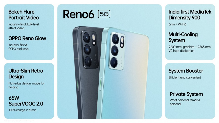 Oppo Reno6 5G goes on sale in India as the country's first Dimensity  900-powered smartphone - GSMArena.com news