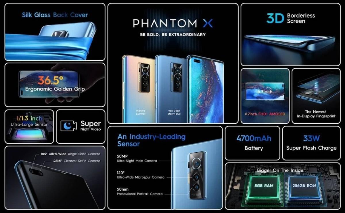 Phantom X, ponsel premium pertama Tecno, kini tersedia