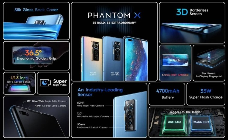 The Phantom X, Tecno'sfirst premium phone, is now available
