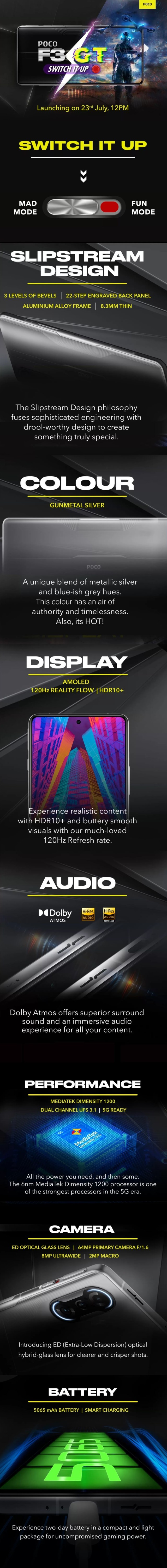 Poco F3 GT gets landing page on Flipkart that covers all the K40 Gaming Edition derived features