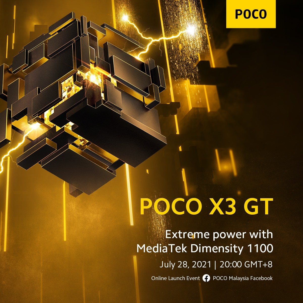 Poco X3 GT's design confirmed through renders, Dimensity 1100 also verified