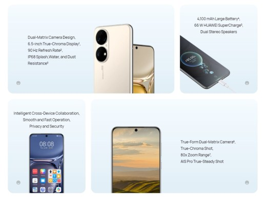 Huawei P50 key features